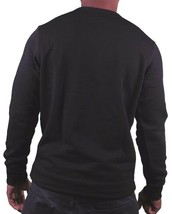 Dope Couture Mens Black Sub-Zero Ice Cold Fleece Crewneck Sweatshirt Sweater NWT image 2