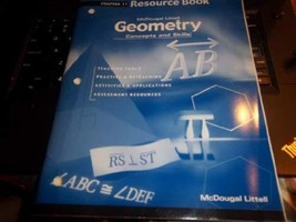 Geometry: Concepts and Skills: Resource Book Chapter 11 [Paperback] MCDO... - $8.37