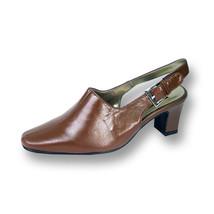 PEERAGE Zoe Women Wide Width Leather Slingback Dress Pump Shoes  - $53.95