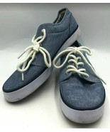 Ralph Lauren Polo Women's Chambray Blue Canvas Lace Up Sneakers Jeethan ... - $24.98