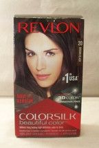 Revlon ColorSilk Beautiful Color Hair Color 20 Brown Black - $8.09
