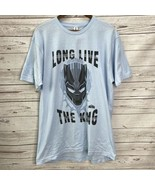 Marvel Black Panther T-Shirt Long Live The King Graphic Light Blue Size ... - $12.82