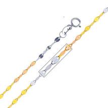 14k Tri-tone Gold 1.7-mm Mirror Chain Necklace - $58.50+
