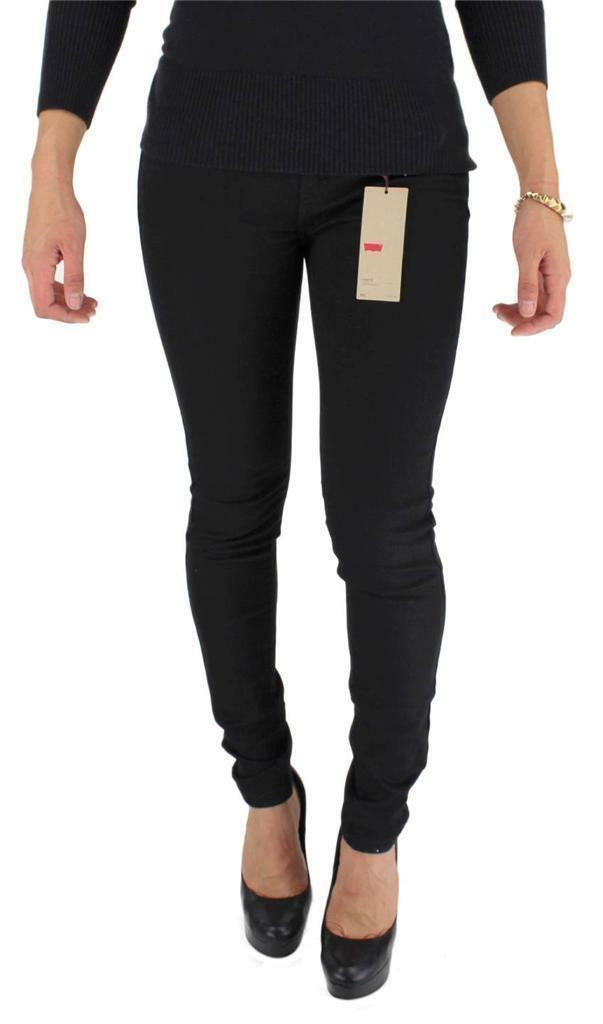 NEW LEVI'S 535 JUNIOR'S CLASSIC PREMIUM SKINNY JEANS LEGGINGS BLACK 535-0201