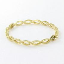 $2240 Roberto Coin Barocco Bracelet Braided Twist Bangle 18k Yellow Gold - $1,406.50
