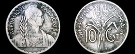 1941-S French Indo-China 10 Cent World Coin - Vietnam - $5.99