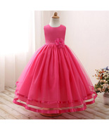 Cute Tulle Magenta Party Gown for Girls - $52.99+