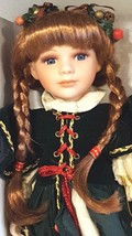 "Collectible Vintage Genuine Porcelain Holiday Doll with Stand – 16"" - $56.38"