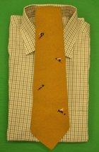'Abercrombie & Fitch Mustard Yellow Wool Tie w/ Emb 'Trout Flies' - $150.00