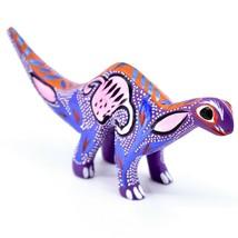 Handmade Alebrijes Oaxacan Wood Carved Folk Art Brontosaurus Dinosaur Figurine image 1