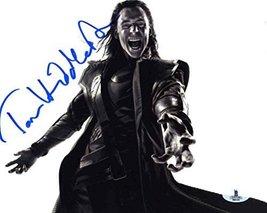 Tom Hiddleston 'Avengers' Loki Signed 8X10 Photo Certified Authentic Beckett BAS - $296.99