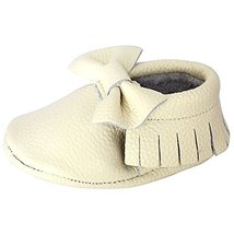Unique Baby Leather Bow Moccasins Anti-Slip Tassels Prewalker Toddler Sh... - $9.99