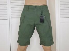 Armani Exchange Authentic Utility Zipper Detail Shorts Green Nwt - $54.71
