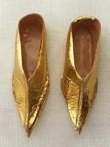 Vintage Barbie Arabian Nights #0874 Gold Foil Slippers   234-28 - $22.50