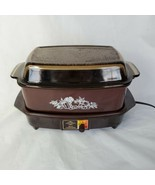 Vintage Electric  West Bend 4 Quart Non Stick Slow Cooker Slo-Cooker Brown  - $48.51