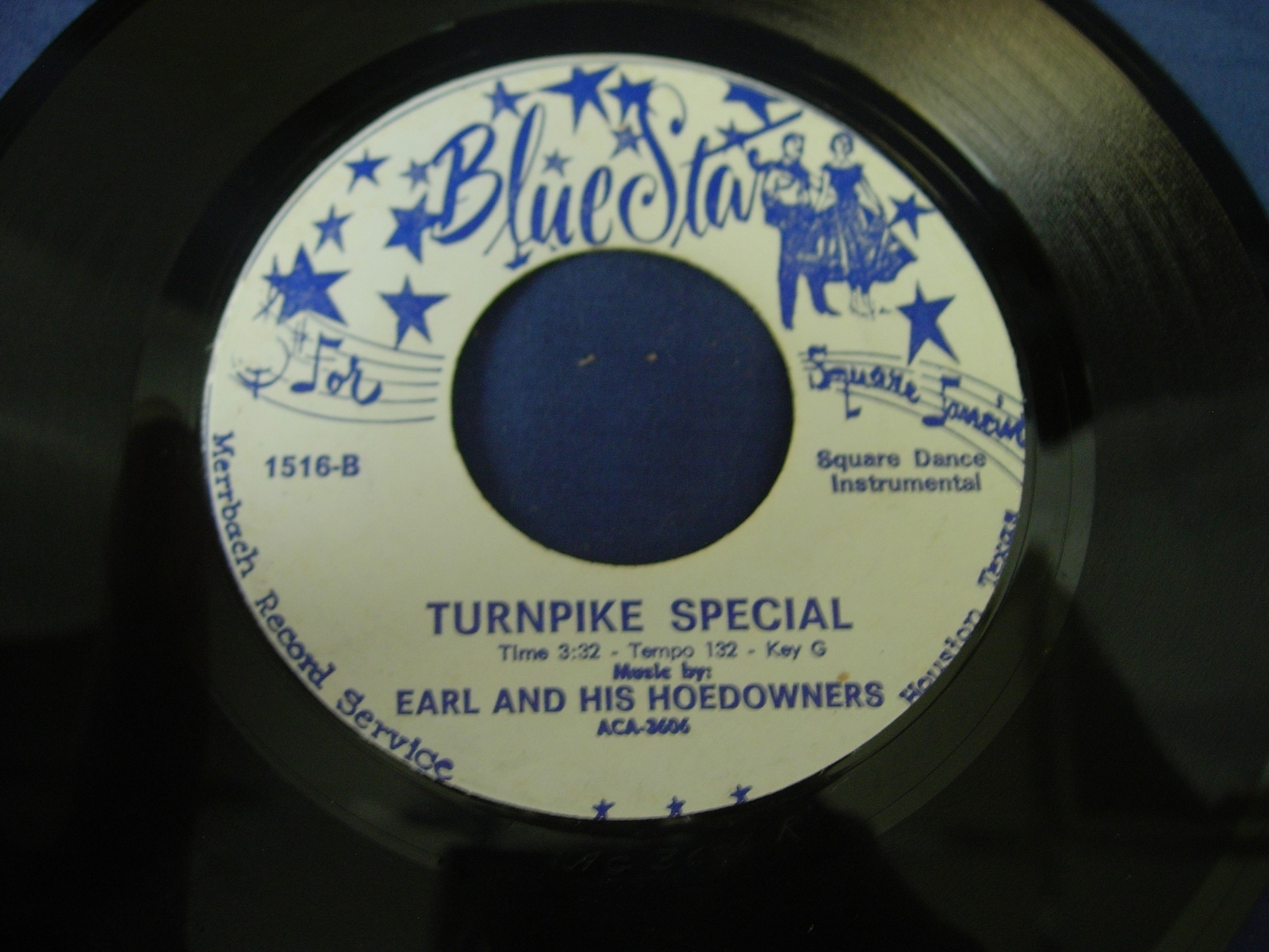 Earl & His Hoedowners - Briar Patch / Turnpike Special - Blue Star Records 1516