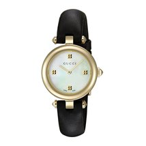 Gucci YA141505 White Dial Leather Strap Ladies Watch - $633.99
