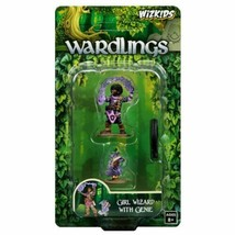 Wardlings - Girl Wizard w/ Genie   -=NEW=- Pathfinder Frostgrave D&D Sha... - $12.30