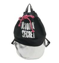 Nwt Victoria's Secret Cyber Monday Tote Cute Bag Backpack Metallic Silver Black - $27.72