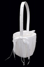 Flower Girl Basket FB 92 (White or Ivory) by Elegance by Carbonneau - $22.99