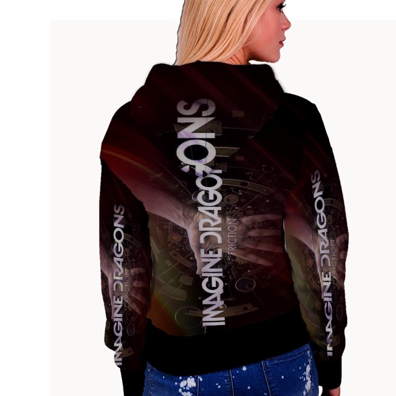 Imagine Dragons Friction WOMENS HOODIE