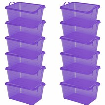 Life Story Purple Stackable Closet & Storage Box 55 Quart Containers 12 ... - $156.64