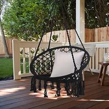 Bathonly Macrame Hammock Swing Chair,100% Handmade Knitted Hanging Chair - $89.54