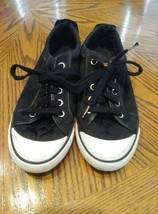 Coach Barrett Sneakers Black Logo Canvas Leather Women Shoes Size 7.5 - $13.30 CAD