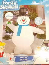Frosty the Snowman Airblown Inflatable 5 Ft New in Box Gemmy LED - $43.71