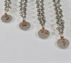 SILVER 925 BRACELET JACK&CO JERSEY INTO RINGS AND PENDANT GOLD PINK 9 CARATS image 2