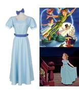 Halloween Film Peter pan Wendy Rachael Cosplay costume Women's Blue Long... - £12.10 GBP