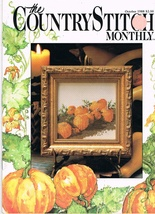 The Country Stitch Monthly Journal of Cross Stitch Designs Back Issue Oc... - $6.00