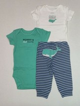 Carter's 3 Piece Set 6 Month Whale Theme Mommy's First Mate  - $13.95
