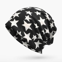 oZyc Winter Hats For Men Skullies Beanies Star Pattern Turban Hat Female... - $10.79