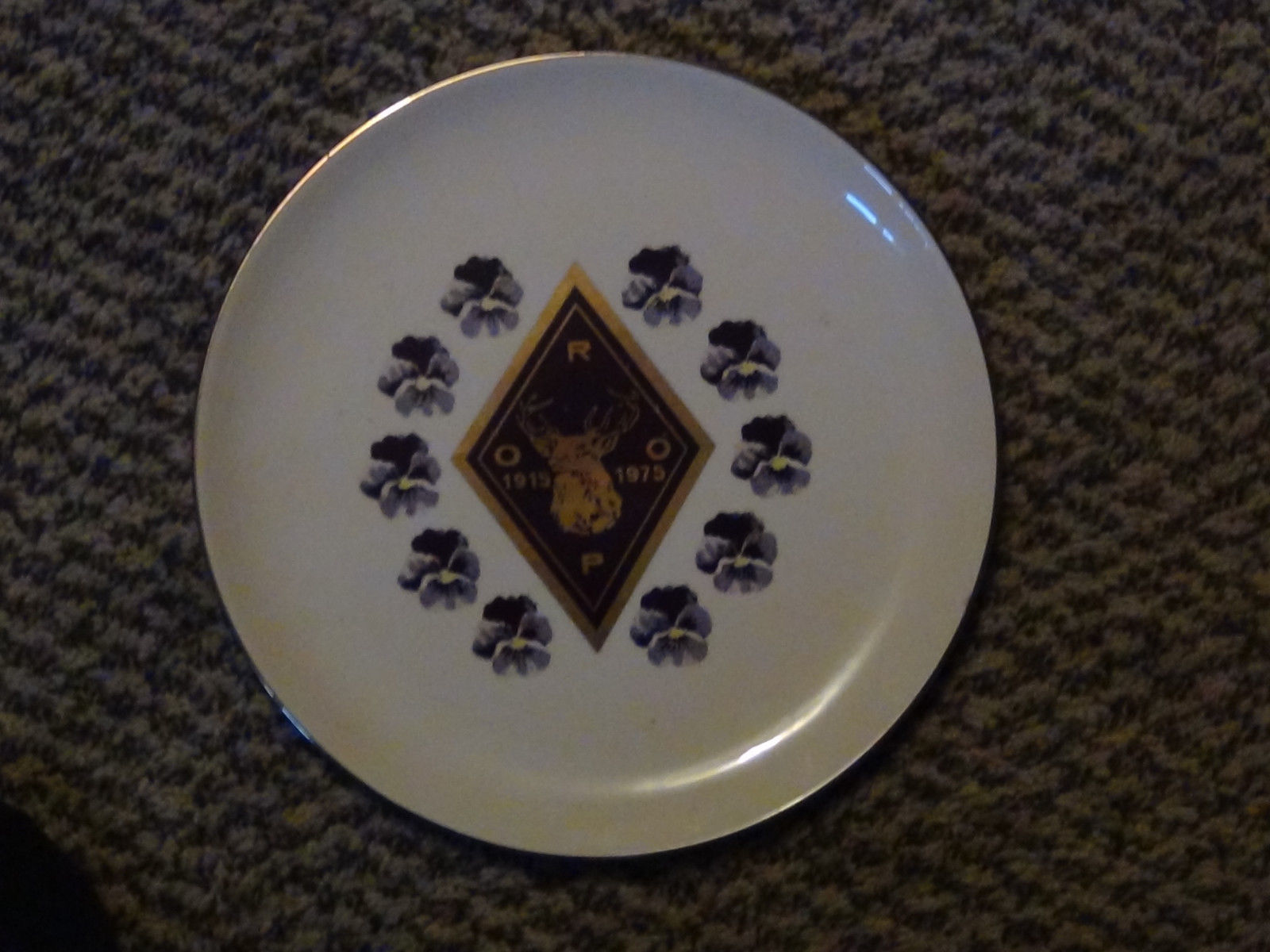 Elks, R.O.O.P. 1915 - 1975 Plate + Imperial Order Daughters of the Empire