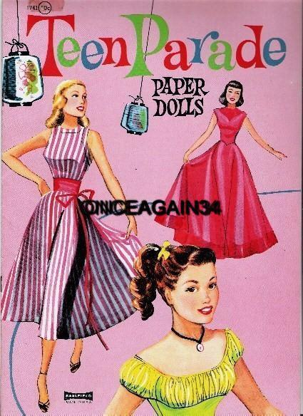 VINTAGE UNCUT 1960 DEBBIE REYNOLDS PAPER DOLLS~#1 REPRODUCTION~PRETTY//RARE SET!