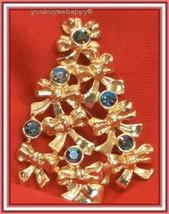 Vintage AVON  Christmas Tree AB Rhinestones Brooch Pin  - $19.80