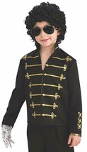 RUBIE'S LICENSED MICHAEL JACKSON MILITARY JACKET BLACK ACCESSORY CHILD M... - $32.61