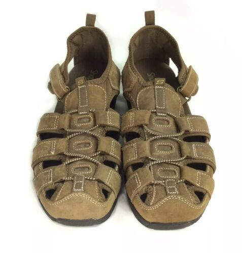 Primary image for Skechers Shape Ups Brown Leather Fisherman Sport Sandals Womens 9 EU 39