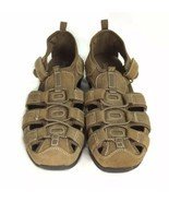 Skechers Shape Ups Brown Leather Fisherman Sport Sandals Womens 9 EU 39 - $25.23