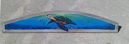 Sea Turtle Door plaque beach art Nautical painting tortoise door topper ... - £37.81 GBP