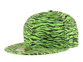 NEW ERA x JEREMY SCOTT Tiger LIMITED 59Fifty CAP Hat LIME GREEN BLACK 7 ... - $23.33