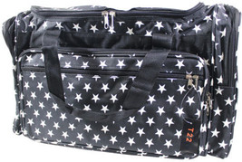 "NEW WORLD TRAVELLER 22 Inch DUFFLE BAG Black White Stars 22"" Length Carr... - $764,70 MXN"