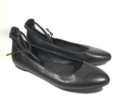 Women's Born Kharen Ankle Tie Ballet Flats Black  US 6.5 M - £60.48 GBP