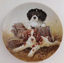 Knowles Pups N Boots Lynn Koatz Dog Plate Field Trip #4 Bradford Exchange 1991 - $29.70