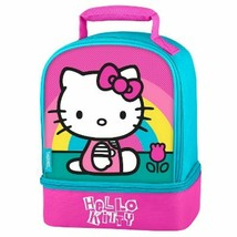 HELLO KITTY SANRIO Thermos Girls Lead-Free Dual-Chamber Lunch Tote Box K... - $17.42