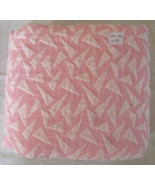Fabric, Knit, White Triangles Polygons on Pink, 44 Wide 2 2/3 Yards - $9.99