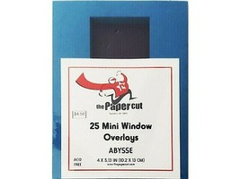 """The Paper Cut Mini Window Overlays, Abysse, 4"""" x 5.13"""", 25 Count"""
