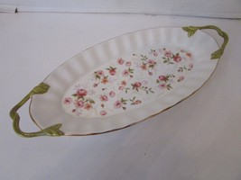 "Gorham 1831 Fine China Oval Tray With Handles Forever Roses 14.5"" - $24.70"