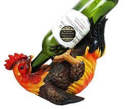 Atlantic Collectibles Barnyard Farm Rooster Chicken Wine Bottle Holder C... - $25.72